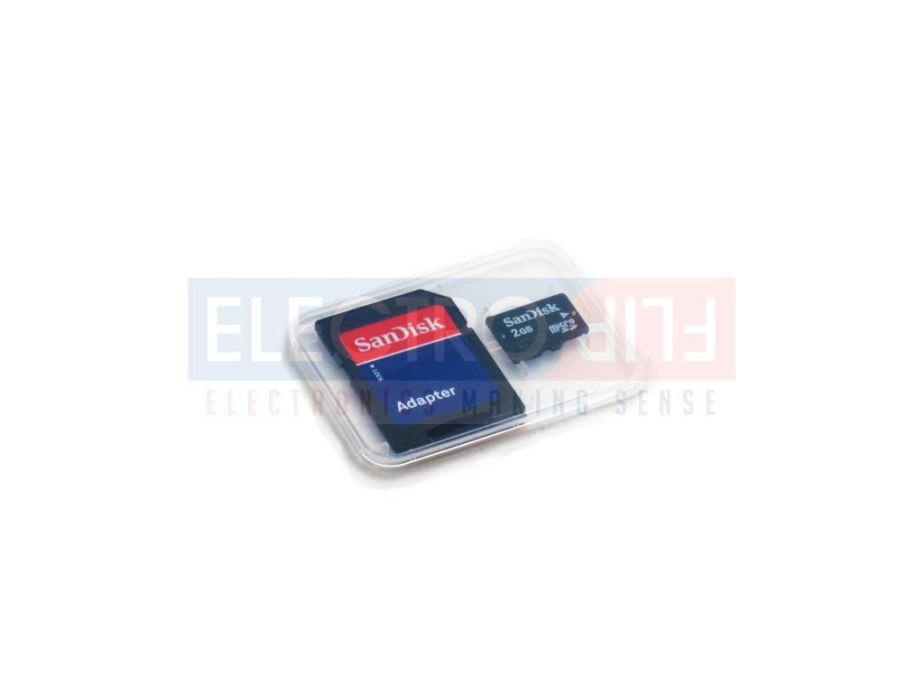 Sandisk 2GB MicroSD Card & SD Adapter
