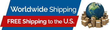 Worldwide shipping! (Free shipping to the U.S.)