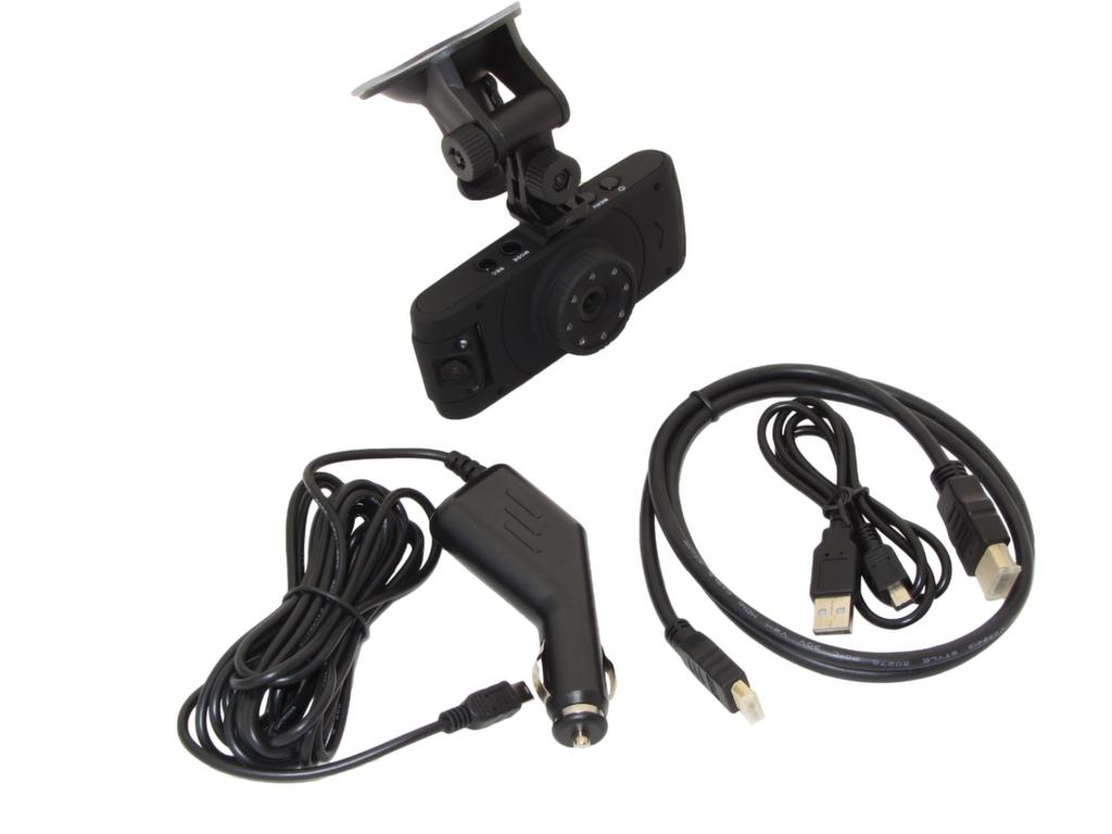 ef56330pDUOHCC ElectroFlip Mini LCD Dual Lens Dashboard Camera Car Black Box Audio Video Recorder