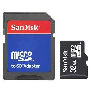 Sandisk 32GB MicroSD Card & SD Adapter