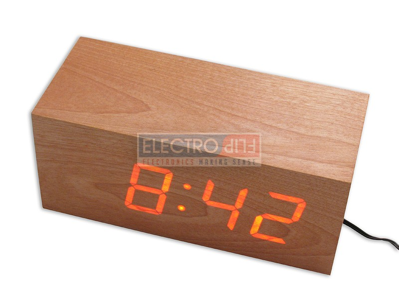 Wooden Digital Clock Device